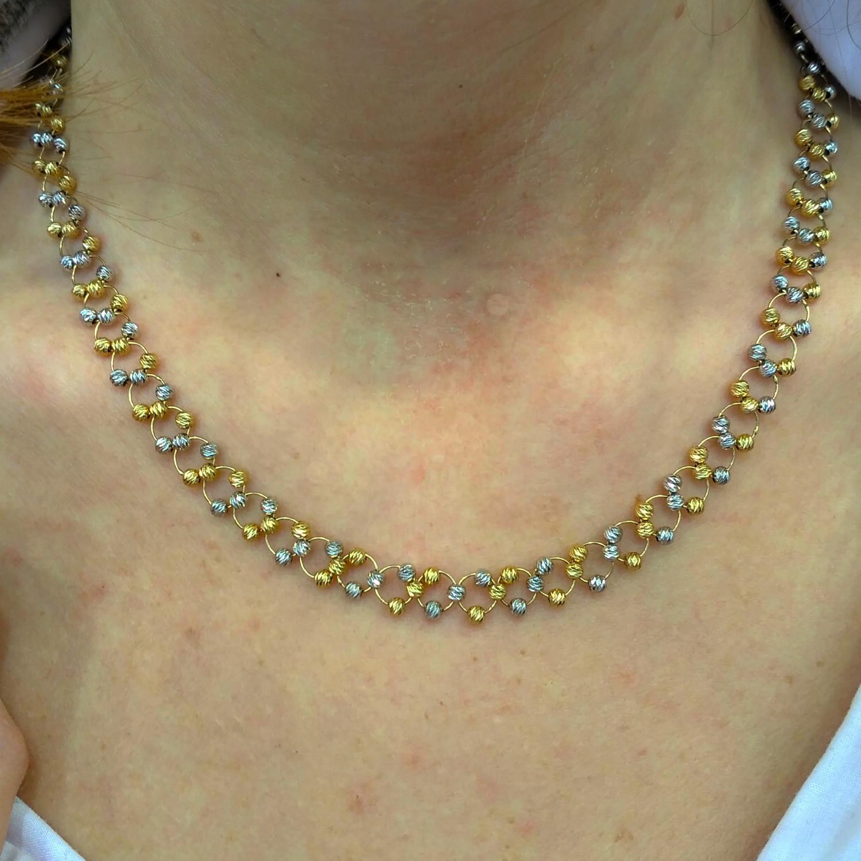 Золотые цепочки с шариками женские 134