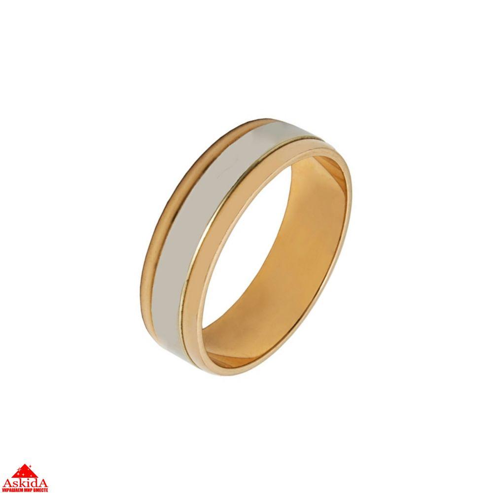 Кольцо обручальное с полосой из белого золота   АскидА   Купить ... 41e54c83d3f
