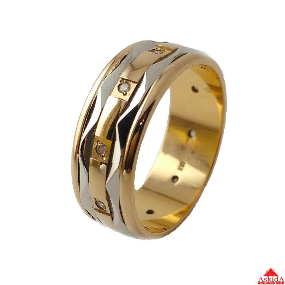 Кольцо обручальное комбинированное   АскидА   Купить Кольцо ... f1200fe2e06