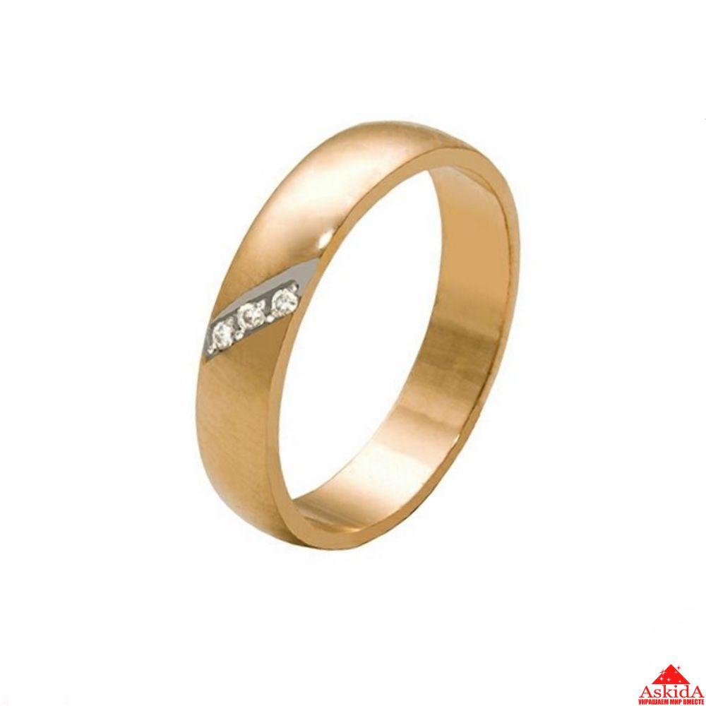 Обручальное кольцо с бриллиантами - арт. 970099755   АскидА ... 0d67041a63f