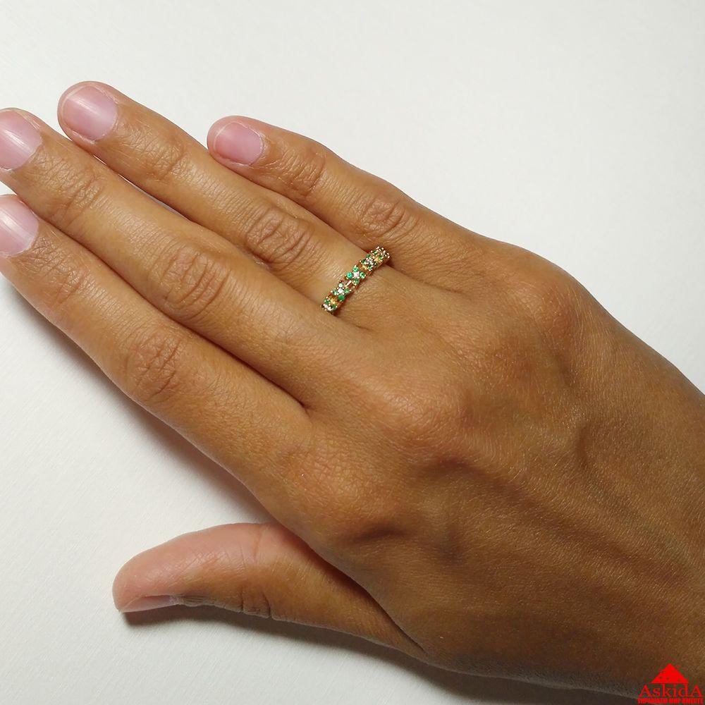 Золотое кольцо с изумрудами и бриллиантами - 970091097   АскидА ... 3ed8eb4810c