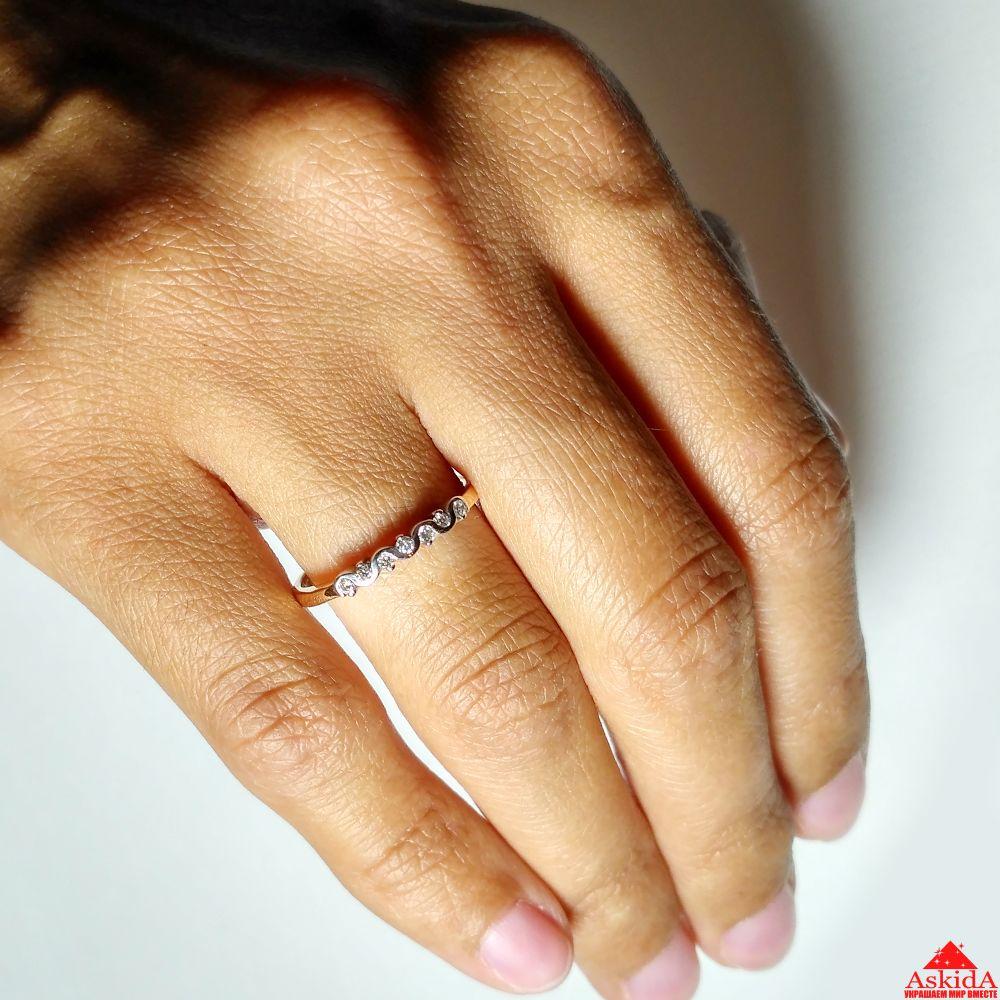 Обручальное кольцо дорожка с бриллиантами - 970195732   АскидА ... 15d4eb4befb