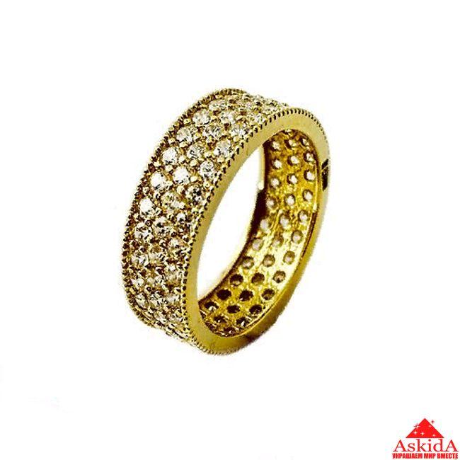 Обручальное кольцо усыпанное камнями   АскидА   Купить Обручальное ... 014de7ba698