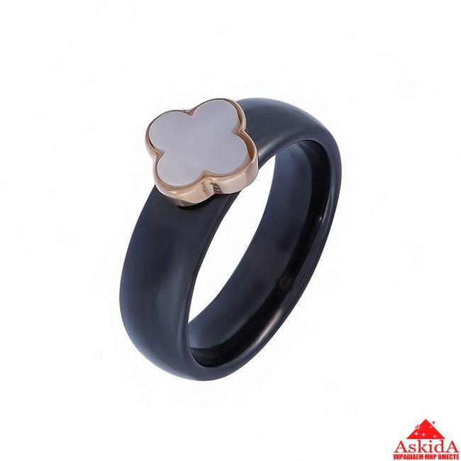 Кольцо из ювелирной керамики, золотой клевер fef3c07f84a