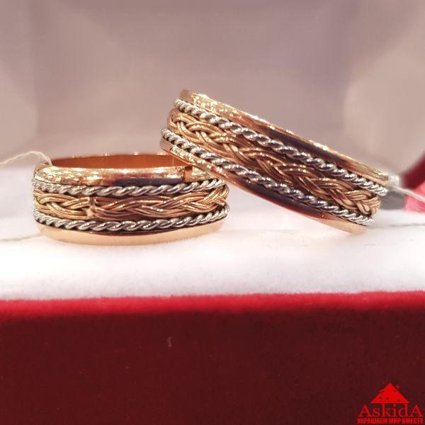 Гладкое обручальное кольцо 2 мм красное золото   АскидА   Купить ... 712dedab707